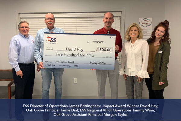 2019 ESS Impact Award Winner David Hay