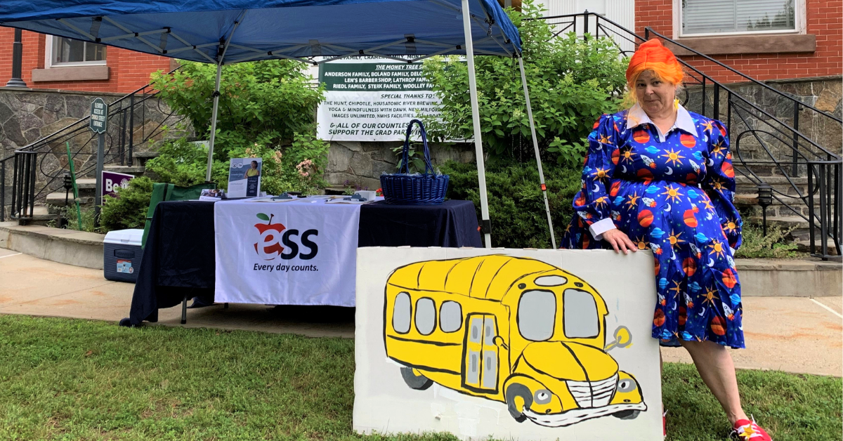 ESS Connecticut Regional Manager Beth Salaris dressed as Ms. Frizzle
