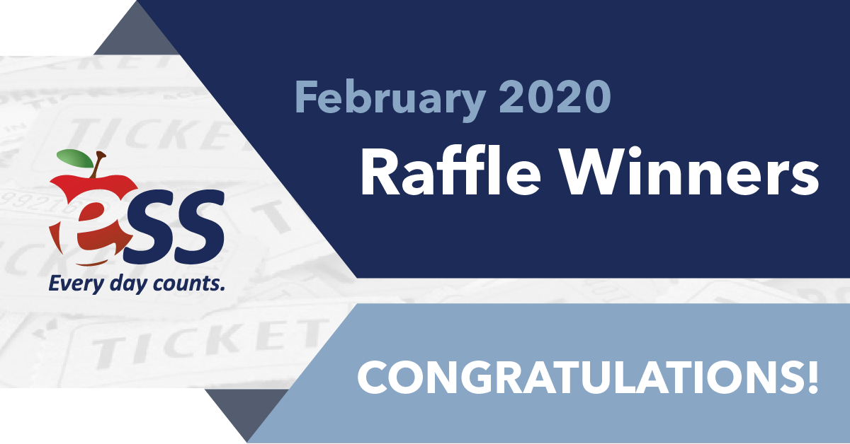 Congratulations to our February 2020 Raffle Winners