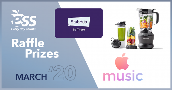 Work 5+ Days in March for a Chance to Win these Awesome Prizes!